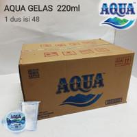 Aqua gelas 220ml air mineral 1 dus isi 48