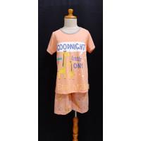 Baju Tidur Anak Cewek Anne Claire (GOODNIGHT) st.lengan pdk celana pdk - 8, Peach