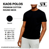 Kaos Polos ABC Premium Cotton hitam - M