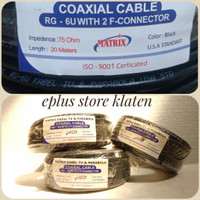 kabel antena matrix tv 20m + konektor USA parabola digital rg6
