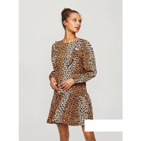 Mini Dress Sexy Leopard Two Color Import F-538200