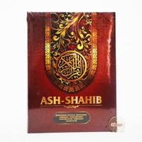 A4 Mushaf Ash Shahib Rasm Utsmani Terjemahan Waqaf dan Ibtida - MERAH