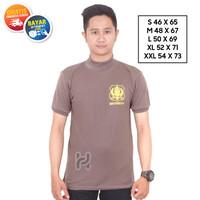 Kaos Security Kerah Tinggi Kaos Satpam Kerah Terbaru Coklat Hitam Navy - Polos Coklat, M
