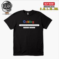 Kaos Baju GOBLOG GOOGLE Logo UDAH GAK DIKASIH HARAPAN Kaos Unik -GilaN - Hitam, S