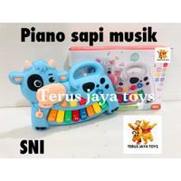 New Mainan bayi Piano animal sapi / piano hewan musik