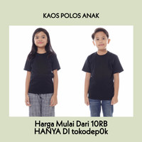 KAOS POLOS ANAK LAKI-LAKI/PEREMPUAN | BAJU POLOS ANAK HITAM - 2