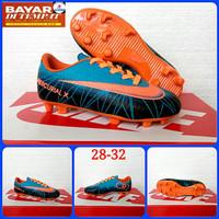 Sepatu Anak Sepatu Bola Anak Nike Mercurial - Biru Orange, 31