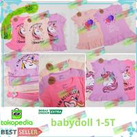 Baju Dress anak Motif kuda poni/dress anak unicorn umur 1-5 thn/anak p - RANDOM 1, 2-3 tahun