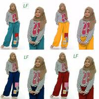 Setelan baju muslim anak perempuan 7 - 9 tahun / stelan anak muslimah