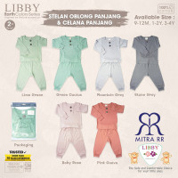 LIBBY BABY EARTH COLORS SERIES Stelan Piyama anak Baju Oblong Panjang