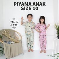 Piyama Anak CP Best Seller size 10 Umur 8 9 10 th