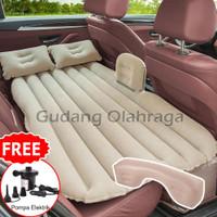 Kasur Angin Mobil + Pompa Listrik + Bantal / Matras Car Air Bed