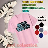 t-shirt baju anak /dewasa laki2 perempuan anime shoto todoroki