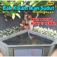 Kolam Ikan Sudut + Aquarium sudut + Bahan Fibreglass