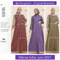 Ori gamis nibras terbaru promo wanita nb b09 edisi 2021 baju syari