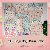 24pcs Paket Set Baju Bayi Baby Perempuan 0 3 6 Bulan Murah Lucu SNI