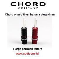 Chord Ohmic silver banana plug harga tercantum per buah