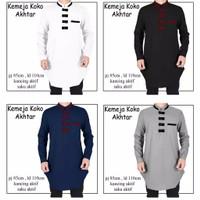 Baju koko pria lengan panjang Akhtar / baju muslim pria M L XL XXL