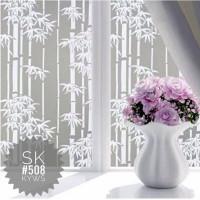 stiker kaca murah motif bambu putih