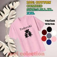 t-shirt baju anak /dewasa laki2 perempuan anime shoto todoroki terbaru