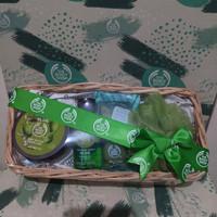 The Body Shop olive gift paket seserahan kado parsel termurah