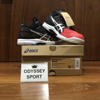 Sepatu Voli Asics Gel-Task MT 2 (E. Red / Pure Silver)100% ORIGINAL!! - 40.5