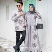 Couple Gamis Terbaru suami istri atasan wanita dress muslim baju pesta