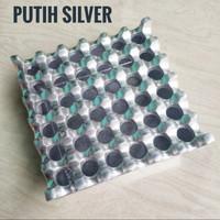 Asbak Lubang 36 Aluminium Ashtray Murah - Putih Silver