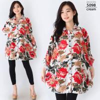 Hem Kemeja Super Jumbo XXXL Baju Atasan Wanita Bigsize LD130 Oversize
