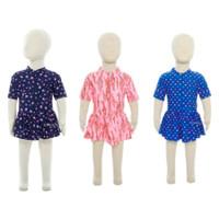 Baju Renang Bayi Perempuan Edora Sportswear DBR | Pakaian Renang Bayi - Navy, All Size