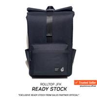 Tas Backpack Laptop By JFK - Tas Anti Air Garansi Resmi - Jet black