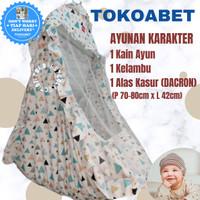 Ayunan karakter perlengkapan bayi dengan ayunan kain kasur kelambu(SJ) - TRIVIA
