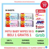 MITU BABY WIPES TISSUE TISU BASAH BAYI MITU 50 SHEETS 50S 50 S LEMBAR