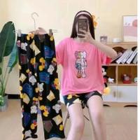 Piyama 779 Import 3in1 Pajamas CP HP Anak Perempuan Remaja Wanita Bear