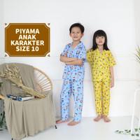 Piyama Anak size 10 Umur 8 9 10 th KITTY HOLIDAY NAVY