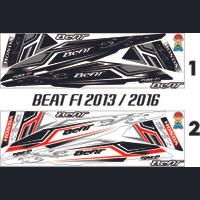 VARIASI MOTOR STRIPING THAILOOK HONDA BEAT FI 2013 / 2016 STICKER ART