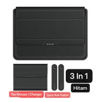 MacBook Air 13 2010 2011 A1369 Sarung Casing Stand Sleeve Case Laptop - Hitam