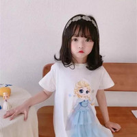 BF04 Baju Dress Mini Princess Elsa Mermaid Snow White Frozen Terusan