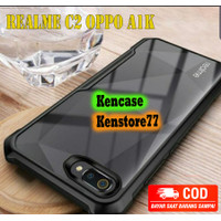 Case Realme C2 Oppo A1k Shockproof Armor Protect Camera Case