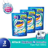Attack Hygiene Plus Protection Liquid 1200 ML Triple Pack
