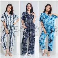 CELANA PANJANG piyama tie dye kulot baju tidur wanita dewasa katun