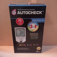 alat autocheck GCU 3 in 1 alat test darah gula, kolestrol, asam urat