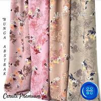 Kain Ceruti Premium Bunga Abstract 0,5 meter