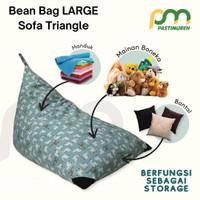 Bean Bag Sofa Triangle LARGE / COVER ONLY / Kursi Santai Beanbag MURAH