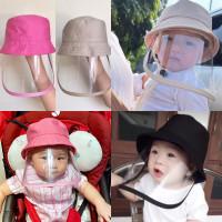 Topi corona anak dan topi bayi / Topi anti corona bayi / face shield