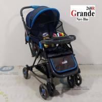 Grosir Pliko PK268 Grande 3 Pengaturan Posisi Hadap Baby Stroller