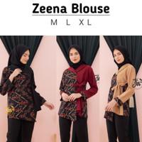 Zeena Blouse Batik Modern . Baju Atasan Kerja Wanita Terbaru