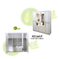Lemari Pakaian 4 pintu murah modern minimalis + perakitan