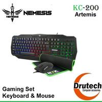 Gaming Set Keyboard Mouse NYK Nemesis KC-200 Artemis