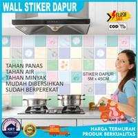 Wall Stiker Dapur 5mx45cm | Wallpaper Sticker Dapur Anti Minyak Panas